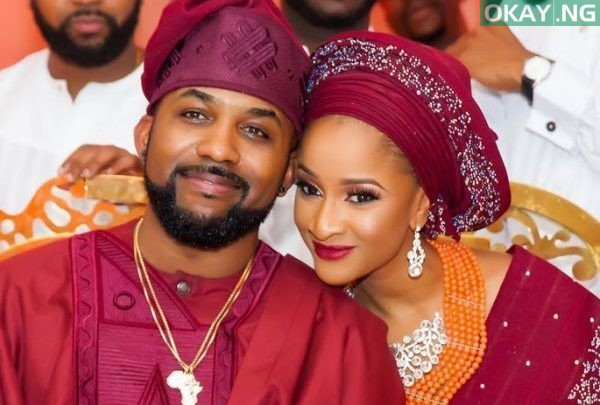 Photo of Banky W's wife Adesua pictured with a growing baby bump (See Photo)