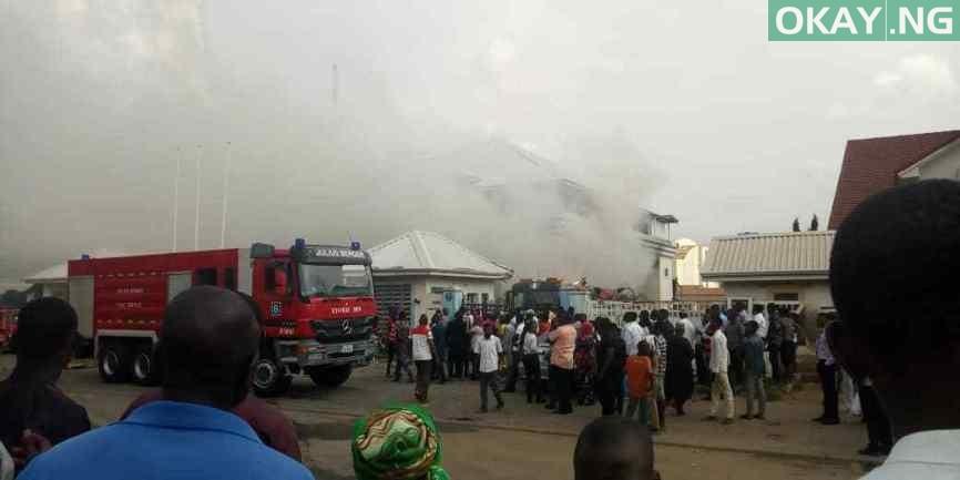 hmedix Abuja fire Okay ng 2 - Hmedix: Fire guts popular pharmacy store in Abuja [Photos]