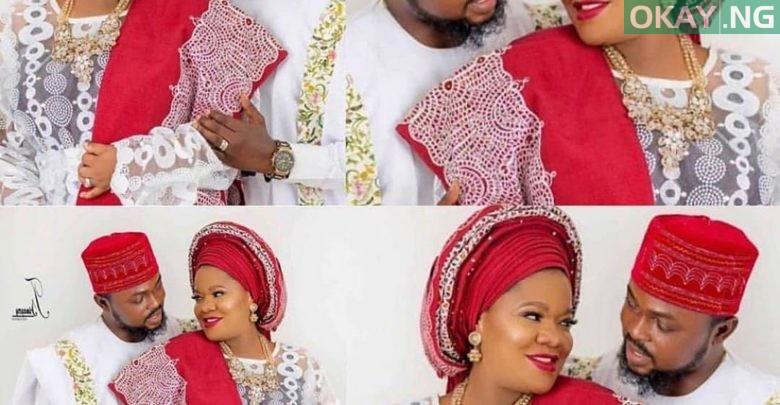 Photo of Toyin Abraham's wedding pictures with Kolawole Ajeyemi surfaces