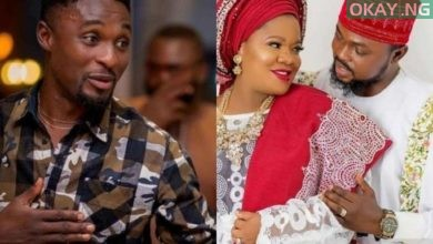 Adeniyi Johnson Toyin Abraham Okay ng 390x220 - Adeniyi Johnson congratulates Toyin Abraham, Kolawole Ajeyemi on birth of their baby