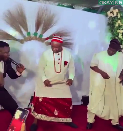 Photo of Akpabio shows off dancing skills as he celebrates ministerial appointment [Video]