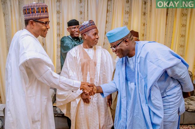 Buhari APC Governors in Daura Okay ng 3 - In Pictures: Buhari receives APC governors, others in Daura