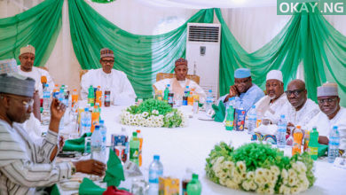 Buhari APC Governors in Daura Okay ng 7 390x220 - Buhari directs CBN not to provide forex to food importers