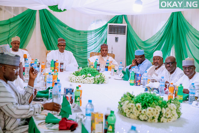 Buhari APC Governors in Daura Okay ng 7 - Buhari directs CBN not to provide forex to food importers