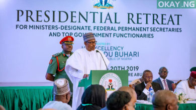 Buhari Retreat Okay ng 390x220 - Buhari assigns portfolios to new ministers [See Here]