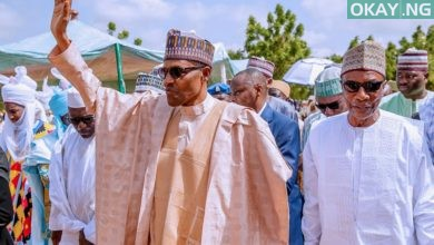 Buhari in Daura eid Okay ng 390x220 - How Buhari, Guinean president celebrated Eid-el-Kabir in Daura [Photos]
