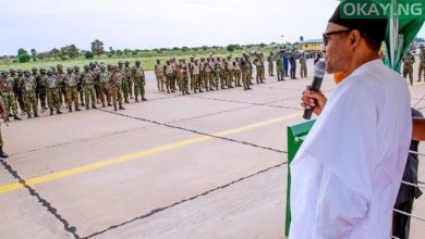 Buhari military Okay ng 1 390x220 - Eliminate them, don't spare any bandit — Buhari directs troops