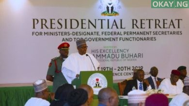 Buhari ministers Okay ng 390x220 - What Buhari told ministers-designate to do on Nigeria's challenges