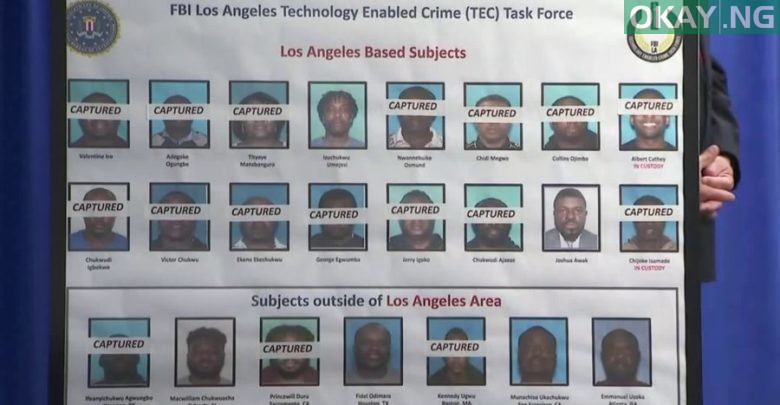 Photo of Names of 80 mostly Nigerians charged for fraud by FBI [See Full List]