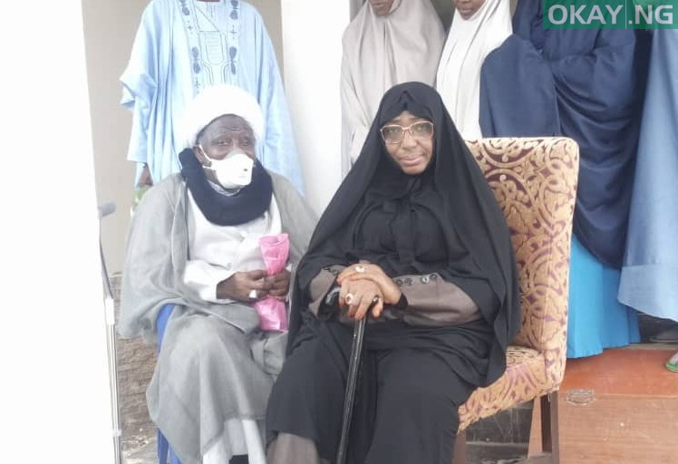 Photo of El-Zakzaky, wife at Abuja airport ahead of medical trip today [Photo]