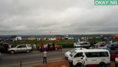 Kaduna Abuja Okay ng 1 390x220 - Kaduna-Abuja highway blocked by commercial drivers [Photos]