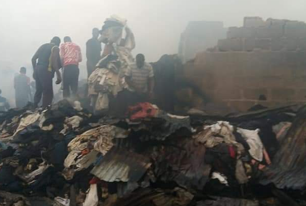 Photo of Fire guts Katangowa market in Lagos [Pictures]