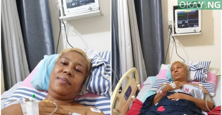 Photo of Nollywood actress Shan George undergoes successful spine surgery