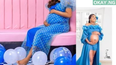 Toyin Pregnant Okay ng 390x220 - See first photo of Toyin Abraham carrying her baby boy