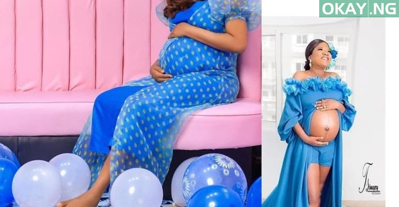 Photo of See first photo of Toyin Abraham carrying her baby boy