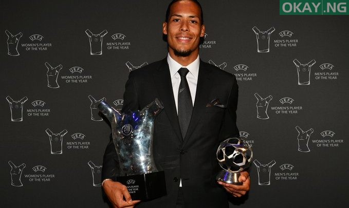 Photo of Virgil van Dijk named 2018/19 UEFA Men's player of the year