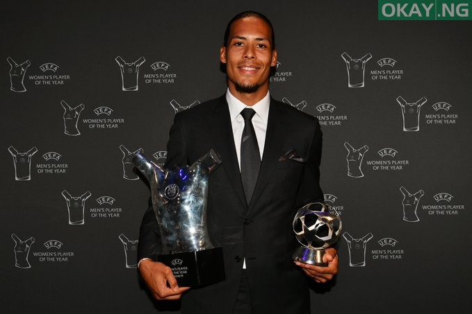 Virgil van Dijk wins 2018/19 UEFA Men's player of the year award