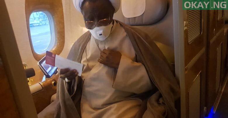 Photo of El-Zakzaky aborts medical treatment in India, on his way to Nigeria
