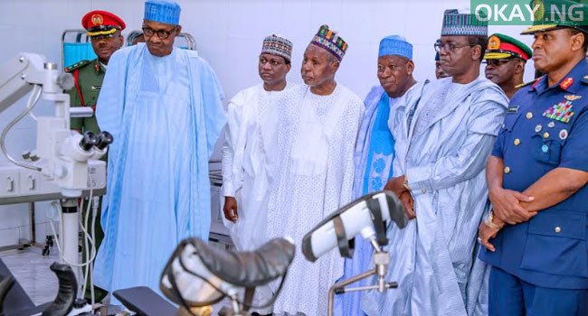 buhari commissions Okay ng 5 - In Pictures: Buhari commissions Air Force Reference hospital in Daura