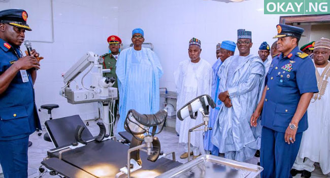 buhari commissions Okay ng 6 - In Pictures: Buhari commissions Air Force Reference hospital in Daura