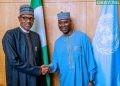 President Muhammadu Buhari meets UNGA President Tijani Muhammad-Bande in New York