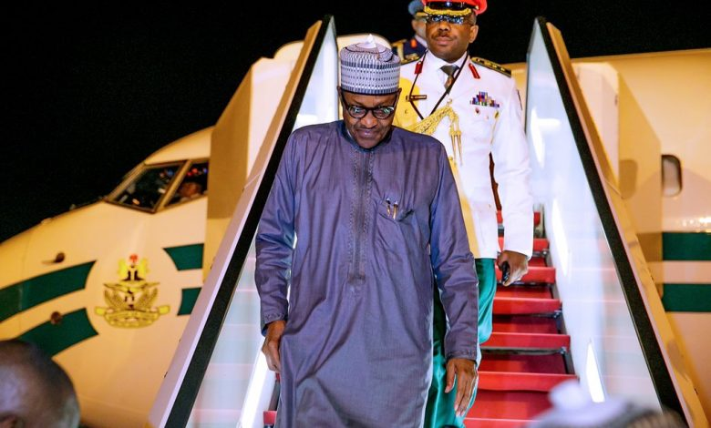 Photo of Buhari returns to Abuja after 74th UNGA in New York (Photos)