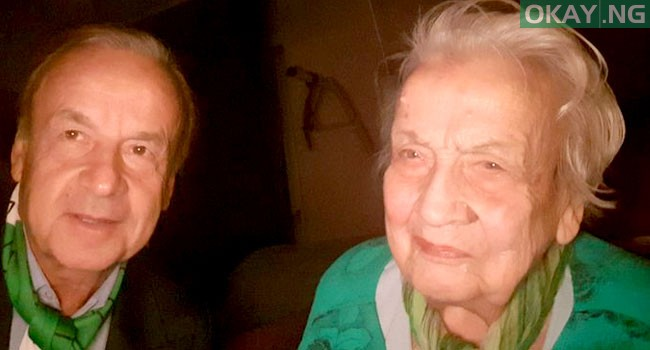 Gernot Rohr and his late mother