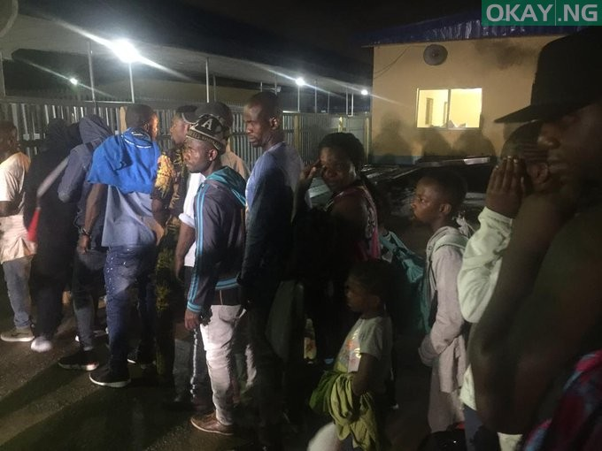 Nigeria returnees from South Africa