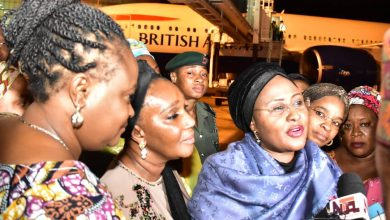 Photo of Aisha Buhari gives reasons why she left Nigeria for two months