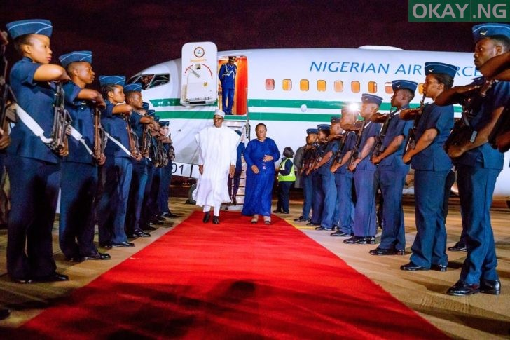 Buhari lands in South Africa