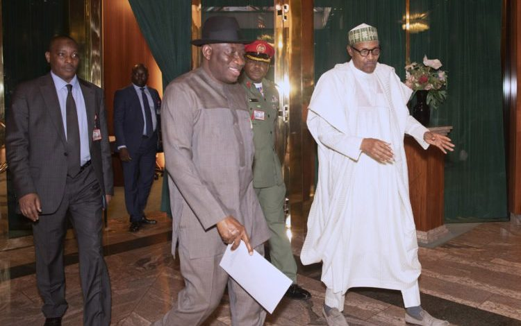Photo of Buhari, Jonathan hold closed-door meeting in Aso Rock (Photos)