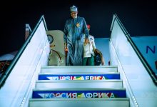 Photo of Buhari arrives in Russia (Pictures)