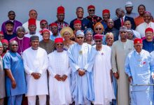 Photo of In Pictures: Buhari hosts South East leaders in Aso Rock