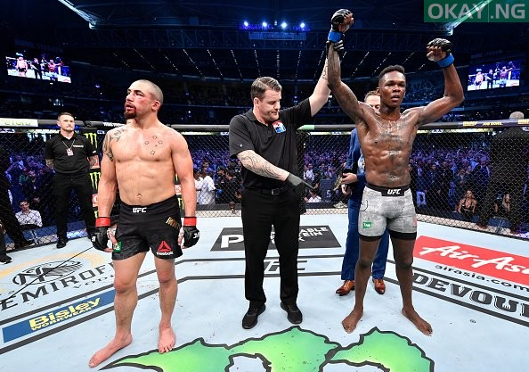 Israel Adesanya becomes new UFC middleweight champion