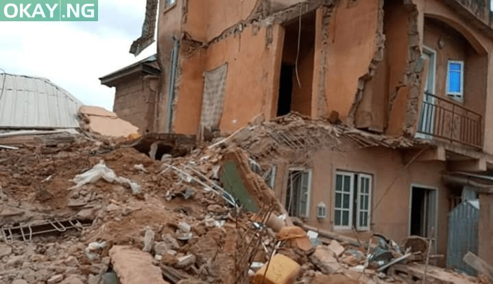 The collapsed building in Jos