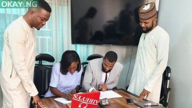 Photo of BBNaija's Mike, and wife sign management deal with Banky W's EME (Pictures)