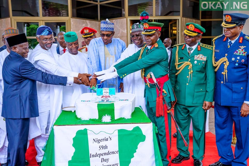 Nigeria at 59: Independence Day celebration in Aso Rock