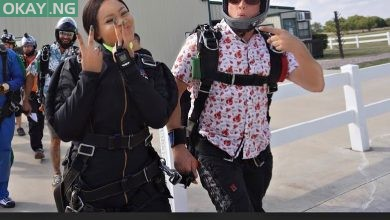 Photo of BBNaija's Nina shares skydiving experience (Video)