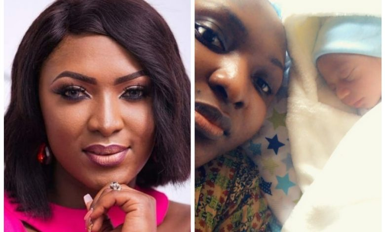 Photo of Actress Esther Audu Ojire gives birth to first child