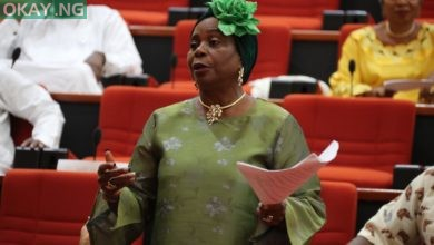 Photo of Lawan swears in PDP's Biodun Olujimi as Senator