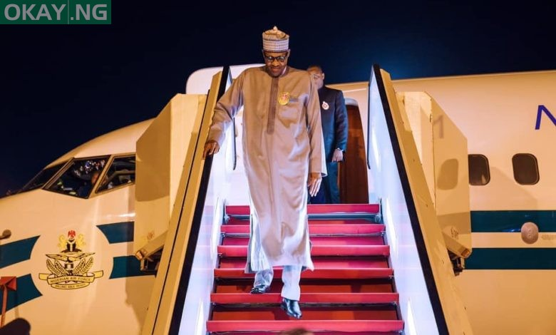 Photo of Buhari back in Abuja after private trip to London (Photos)