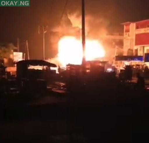 Scene of the fire in Ipaja