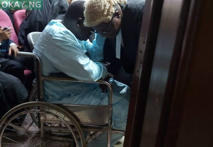 Photo of Maina brought to court in a wheelchair