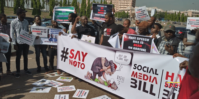 Photo of Hate Speech Bill: Protesters hit National Assembly