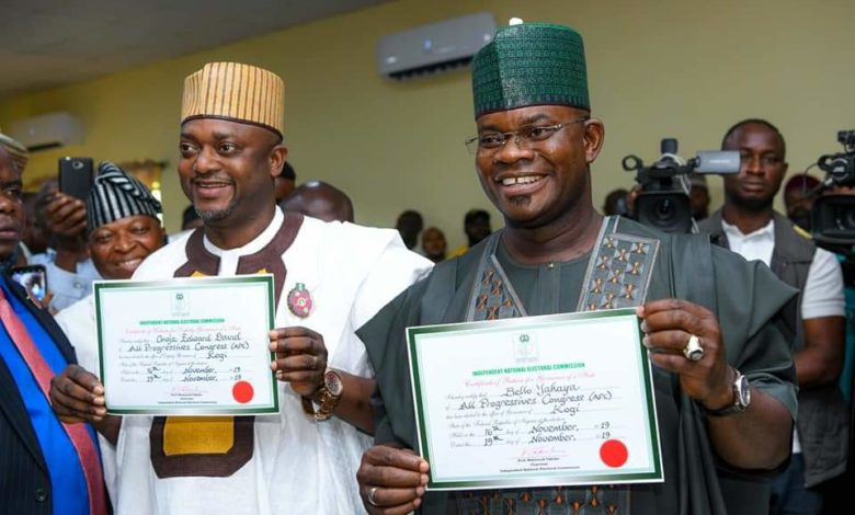 Photo of KOGI: INEC issues certificate of return to Yahaya Bello (PHOTOS)