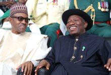 Photo of Buhari praises Jonathan on his 62nd birthday
