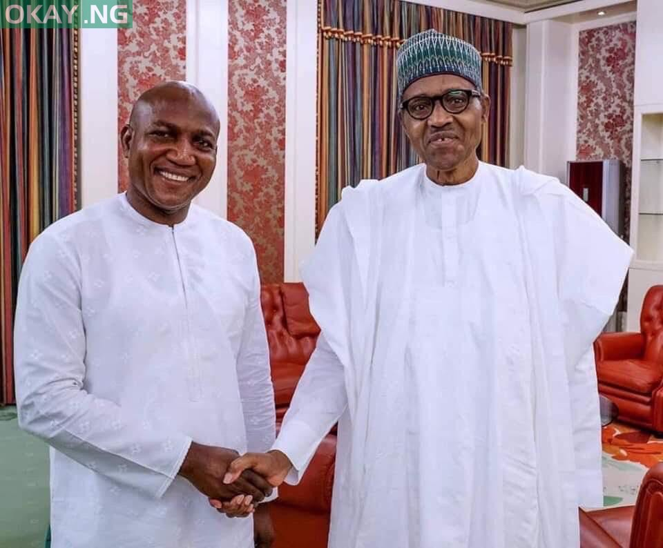 Photo of Bayelsa governor-elect, Lyon, visits Buhari in Aso Rock