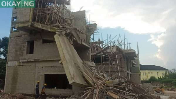 Photo of IN LAGOS: Two-storey building collapses (Photos)