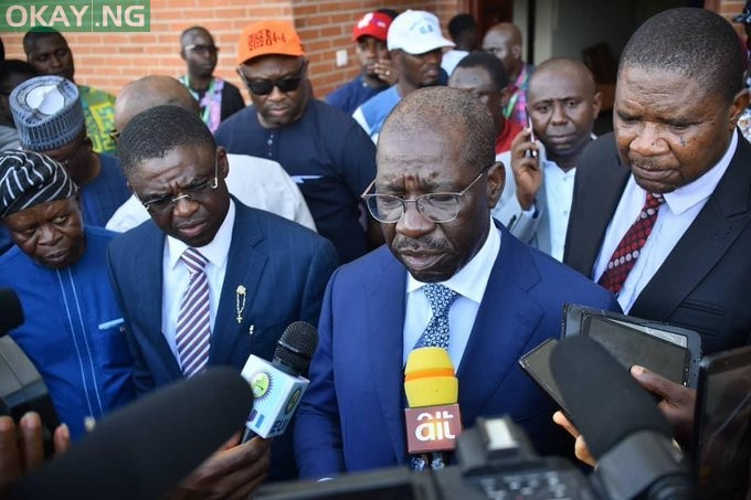 Photo of Obaseki speaks after attack at Oshiomhole's house (VIDEO)
