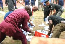 Photo of IN KOGI: Thugs storm Dino Melaye's polling unit, snatch ballot boxes